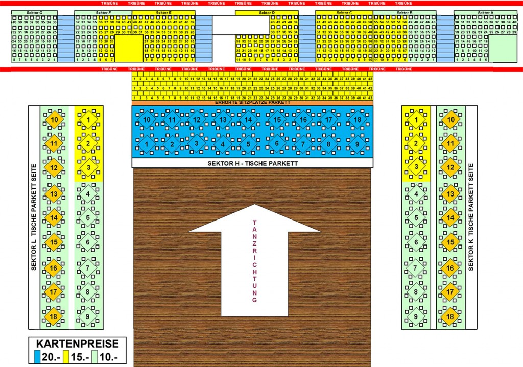 Sitzplan 3 Kategorien Donaucup 2014