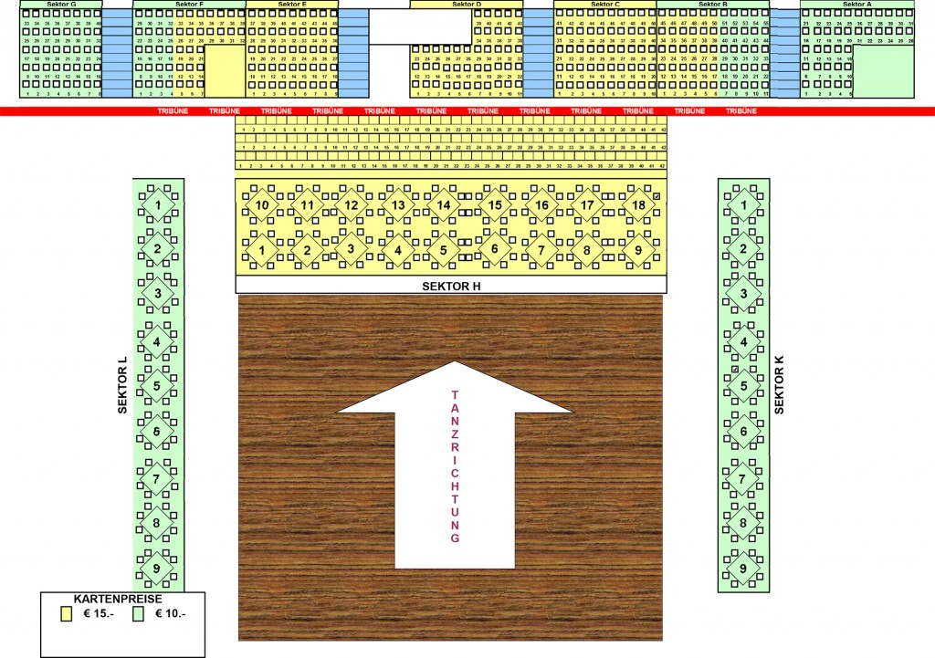 Sitzplan 2 Kategorien